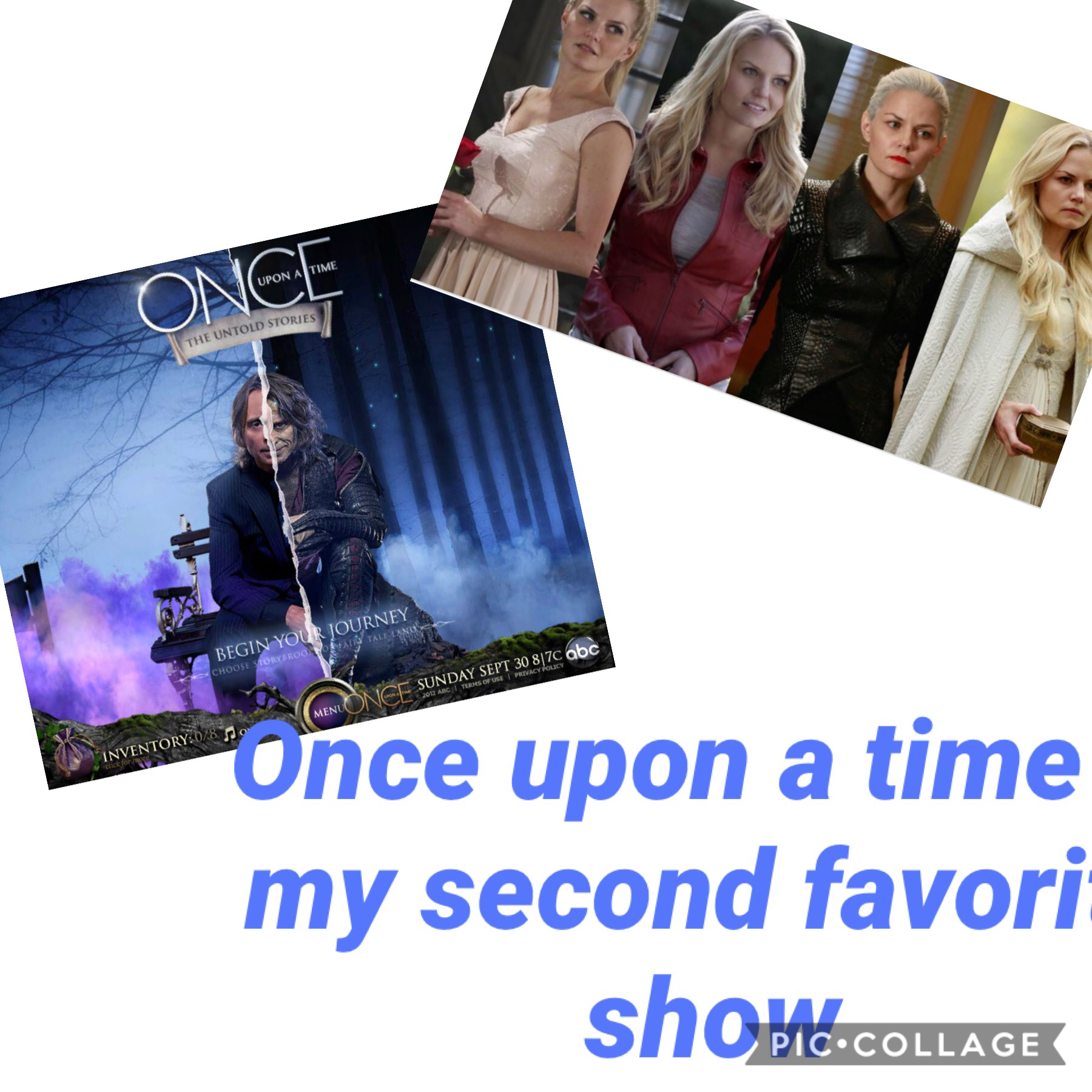 Once upon a time is my second favorite show!!!🖤💜💙