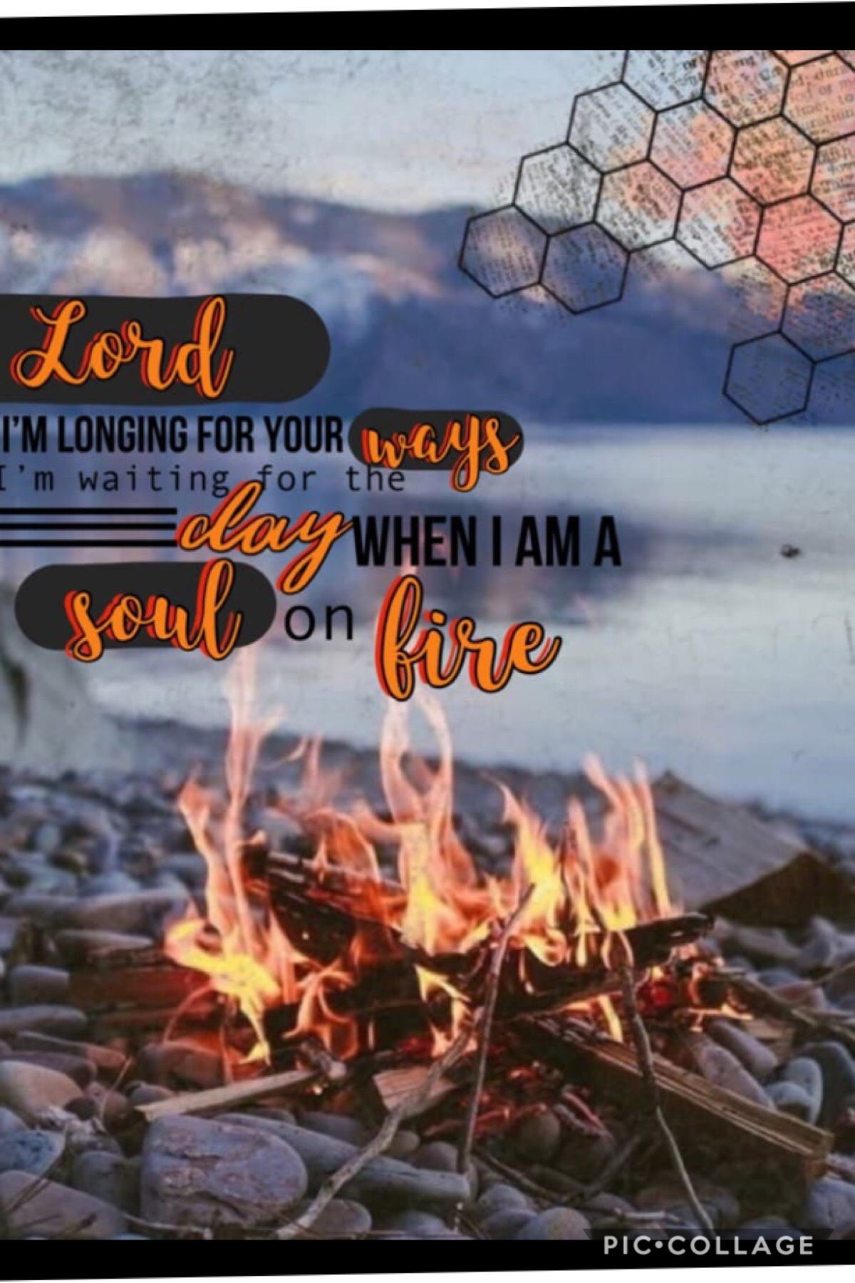 "Collab with IBFlippin431💖 Go follow this amazing talented user right now! I did the background and she did the text!😊✝️ ""Soul on Fire"" - Third Day🔥 I really wish I could go see this group in concert!!😆 QOTD:have you entered my fandom games?🎥📖"
