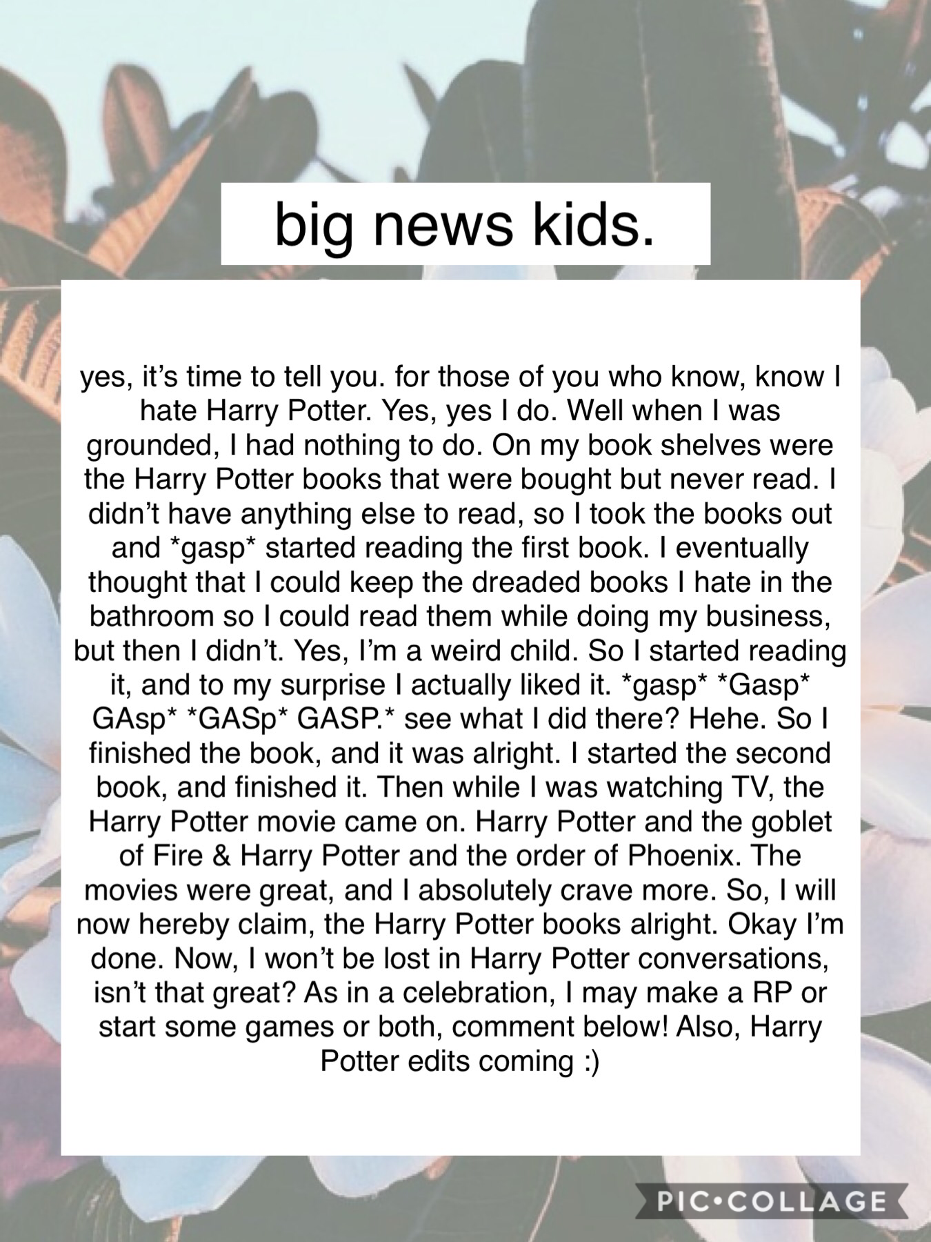 💥BIG NEWS💥 Anywho, I'm a griffindor💥 EEE, I need to get the other books soon💥 Probably gonna delete this💥 Games or RP, or both?💥I'm still a Percy Jackson fan for life, no doubt.💥 #PCONLY #BIGNEWS? #GRIFFINDOR #PJFAN4LIFE #OKIE #BAI #HEHE #NEVER #OKIE #NOW