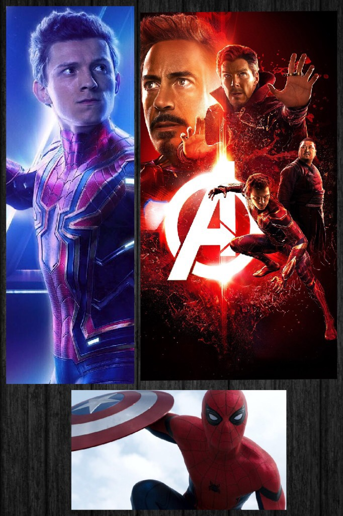 Here's another Marvel collage-Spider-Man/Infinity War