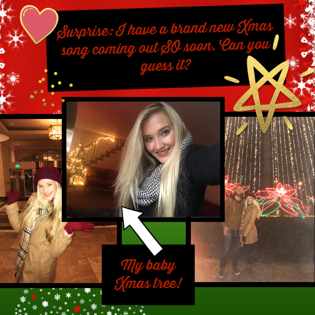 Can you guess the Xmas song I'm releasing soon?! #chloecarolinecrew