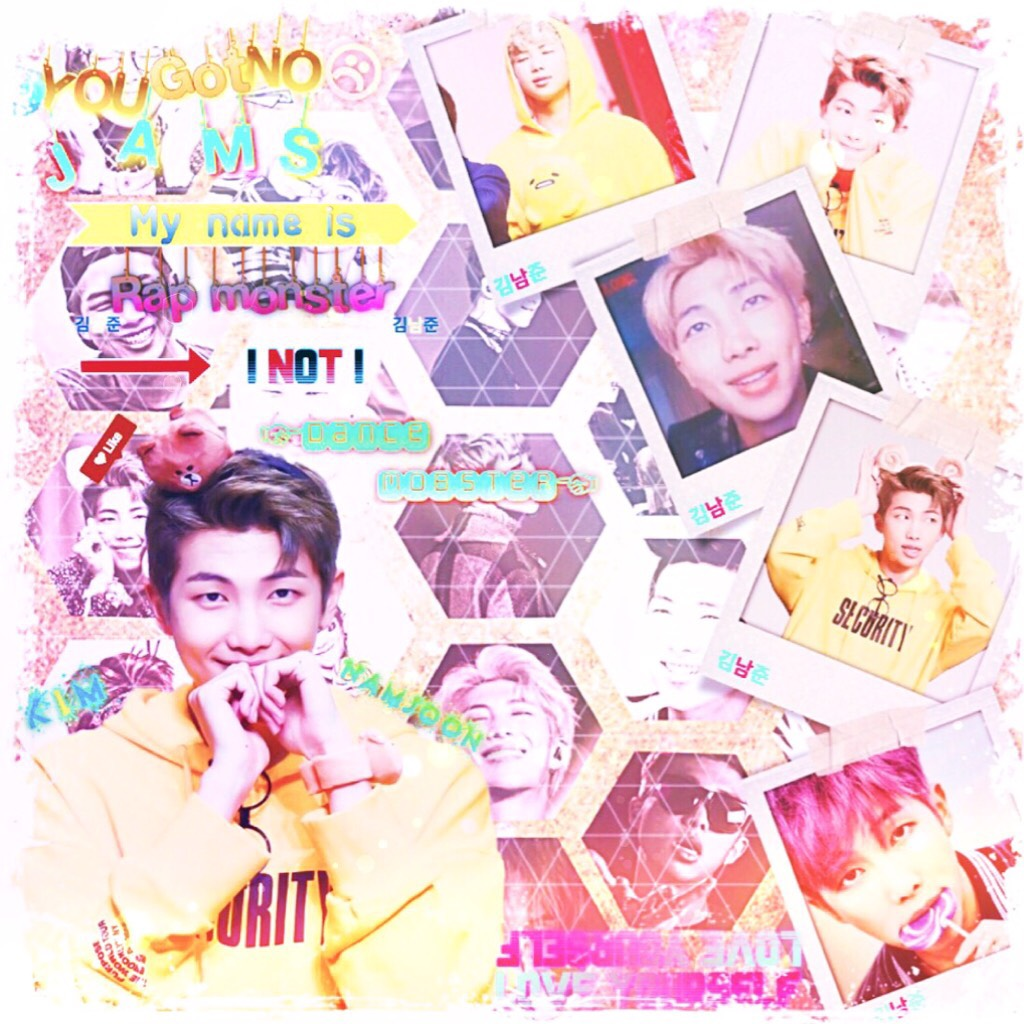 Kind of a boring edit, but what's not boring is that Namjoon looks so good in yellow. Btw I'm thinking bout changing my username
