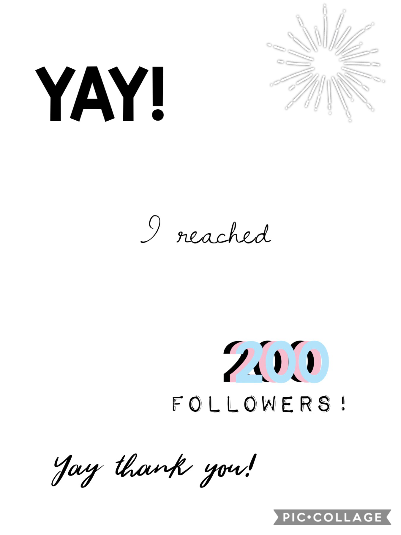 Thanks for 200 followers! YAY