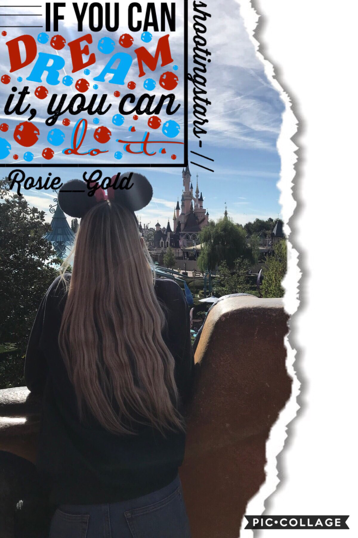 🐭tap🐭 Collab with.... shootingstars-  She did the text and stuff pngs and I chose the background  Qotd; fave Disney park? Aotd: Epcot!!!