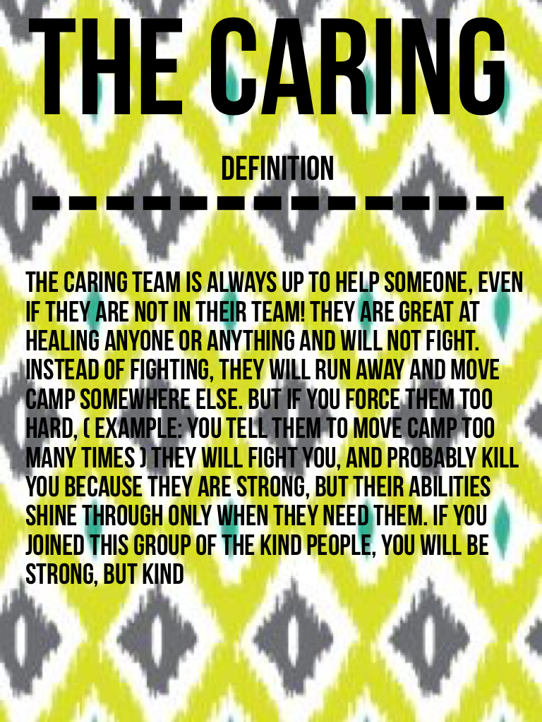 The caring -------------
