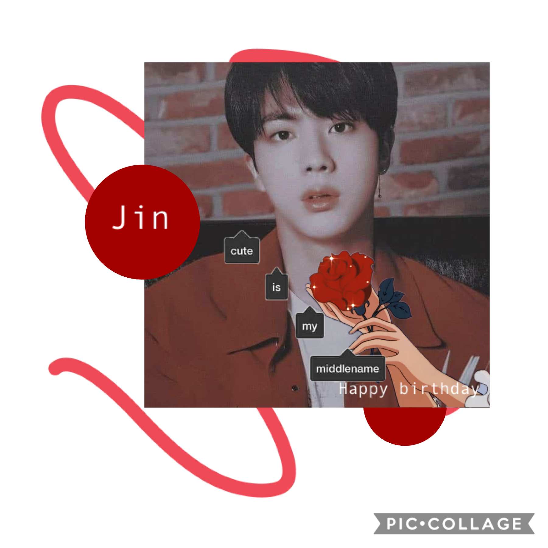 HAPPY (late oops) BIRTHDAY JIN, LOVE YOU SO MUCH❤️🌹
