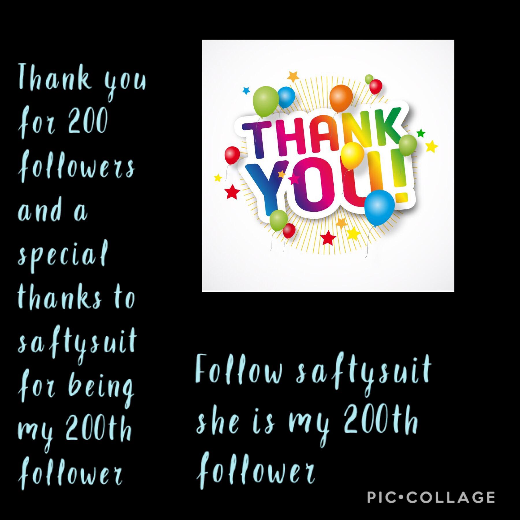 200 followers!!!!