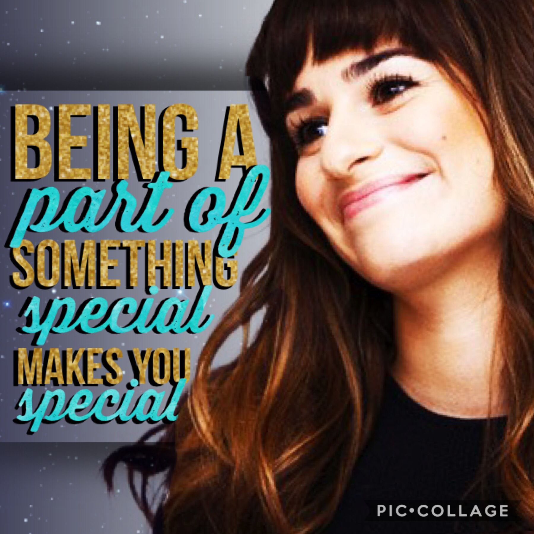 Tap! First collage in my new Glee theme. Today's character? Rachel Berry. QOTD: Favorite show to binge? AOTD: Either Glee (duh) or The Goldbergs.