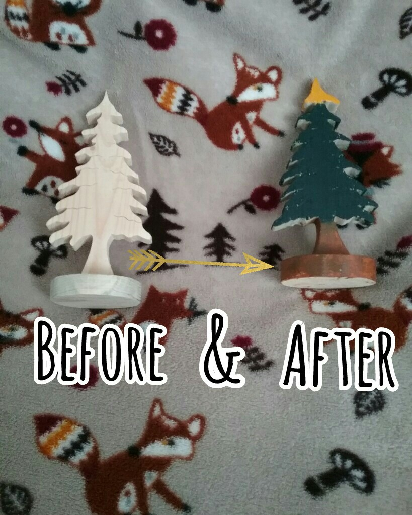 😚CLICK😚 Really easy DIY room decor! I just painted the plain wooden tree and that was it! You can put it on display or give it as a gift!