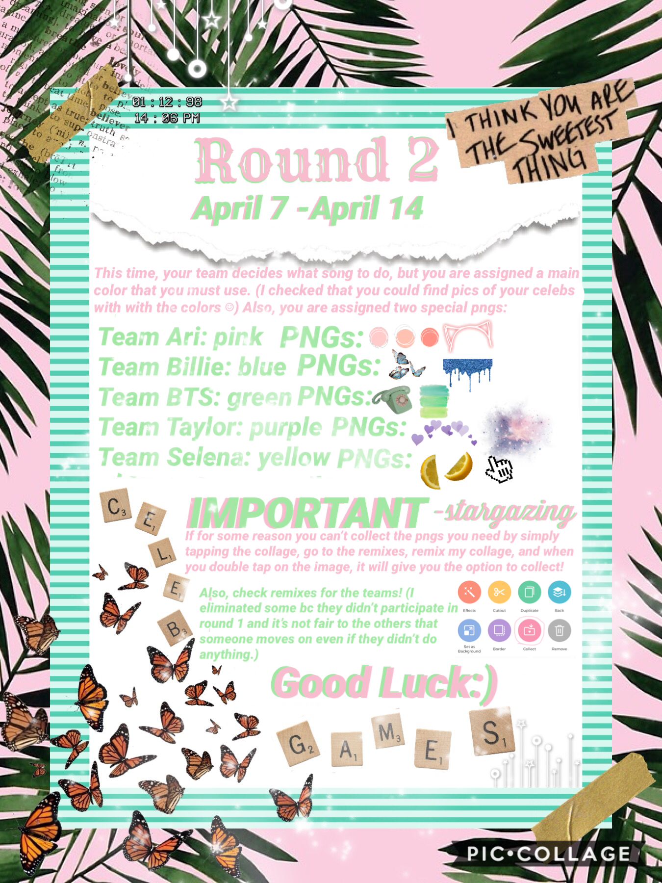 TAP Round 2 is out! Tell  your teammates! Plz check remixes for the  new teams! Chatpages will be out in a while!