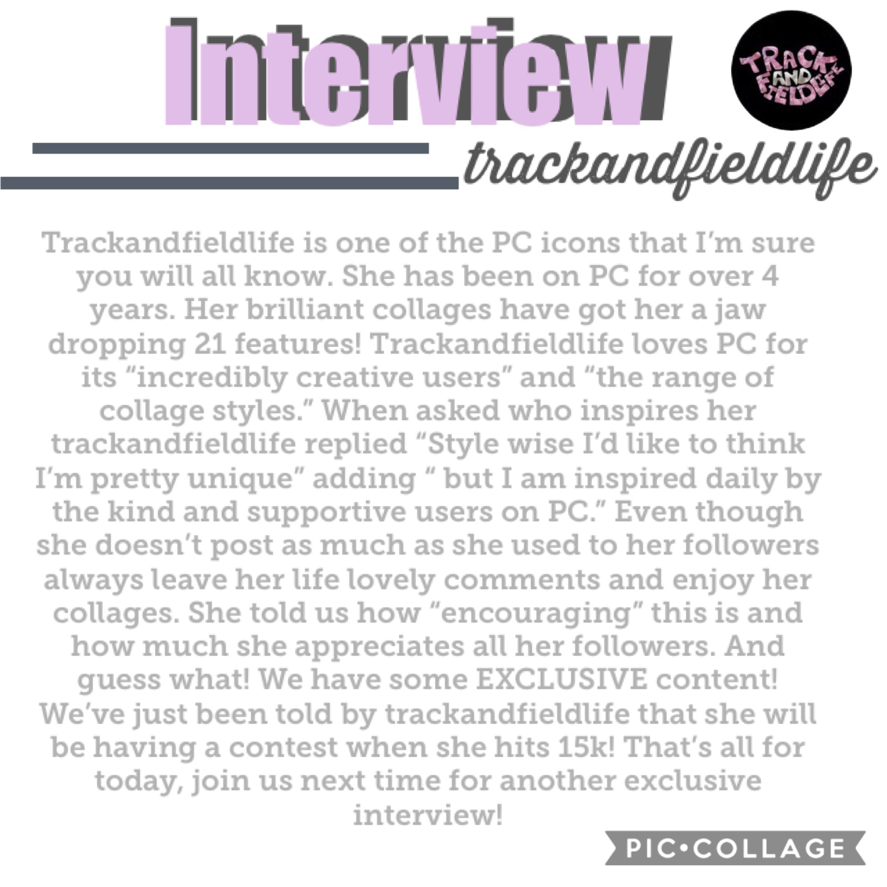 •Click• 🎉First every interview with trackandfieldlife🎉 🌊I'm sorry to keep saying this but a lot of people are filling out the interview sheet- please don't unless I ask you!🌊