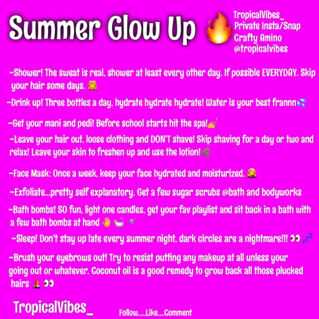 Summer Glow Up TIPS