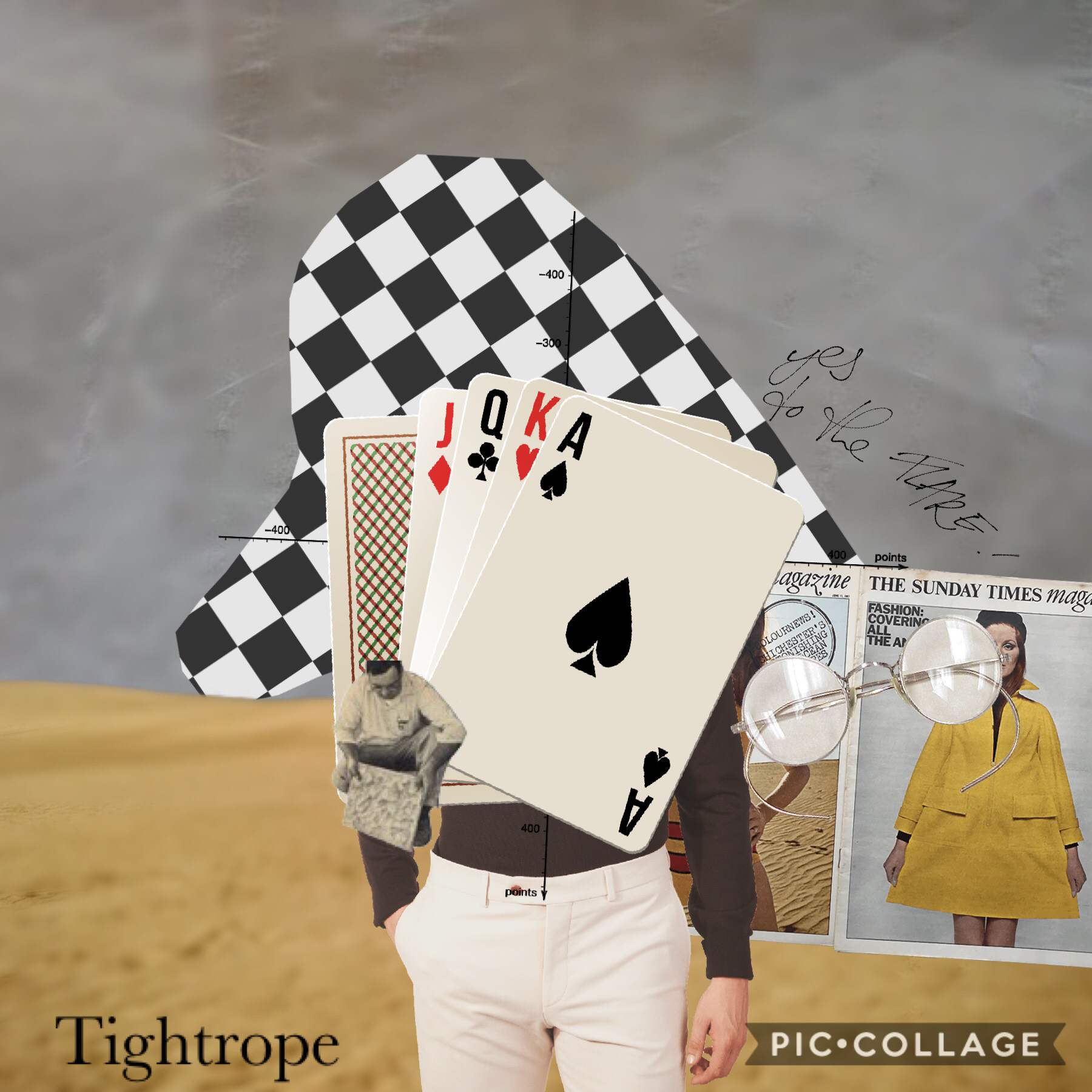 Collage by tightrope
