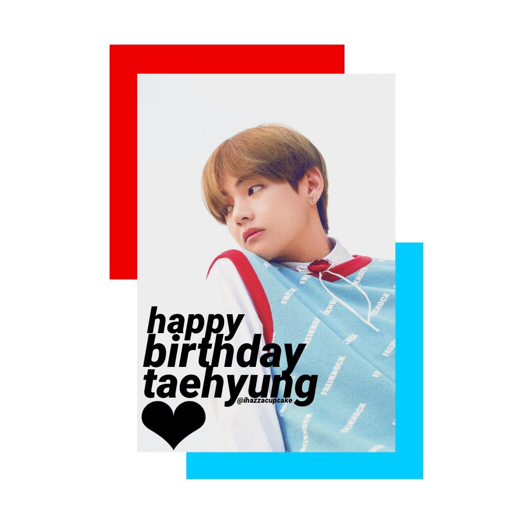 tap ✨ happy birthday to this ray of sunshine. tae is so incredibly talented and gorgeous, not to mention he is the biggest dork on the planet and never fails to make me smile. anyways i just love him and hope he has the best day!! 🖤