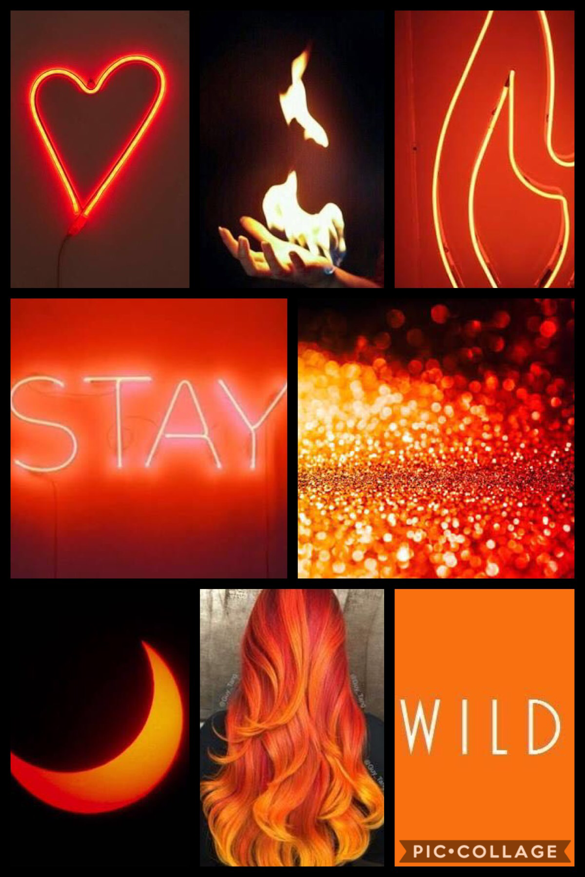 Just an orange aesthetic of my OC blaze.
