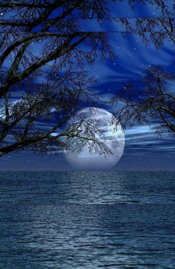 Отправить открытку, анимация открытка луна