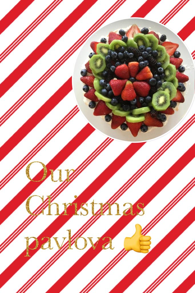 Our Christmas pavlova