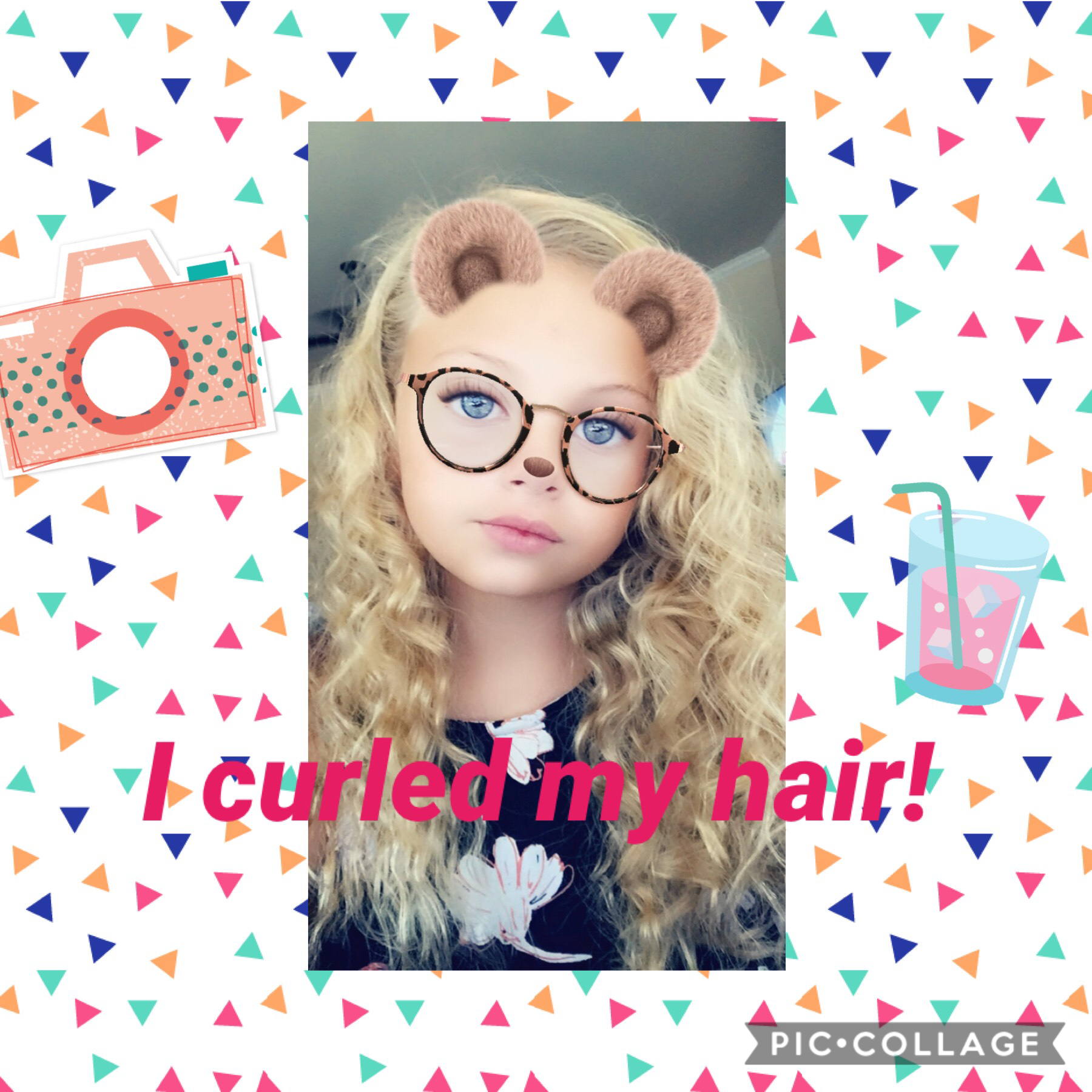 I curled my hair! Hope it stays like this.