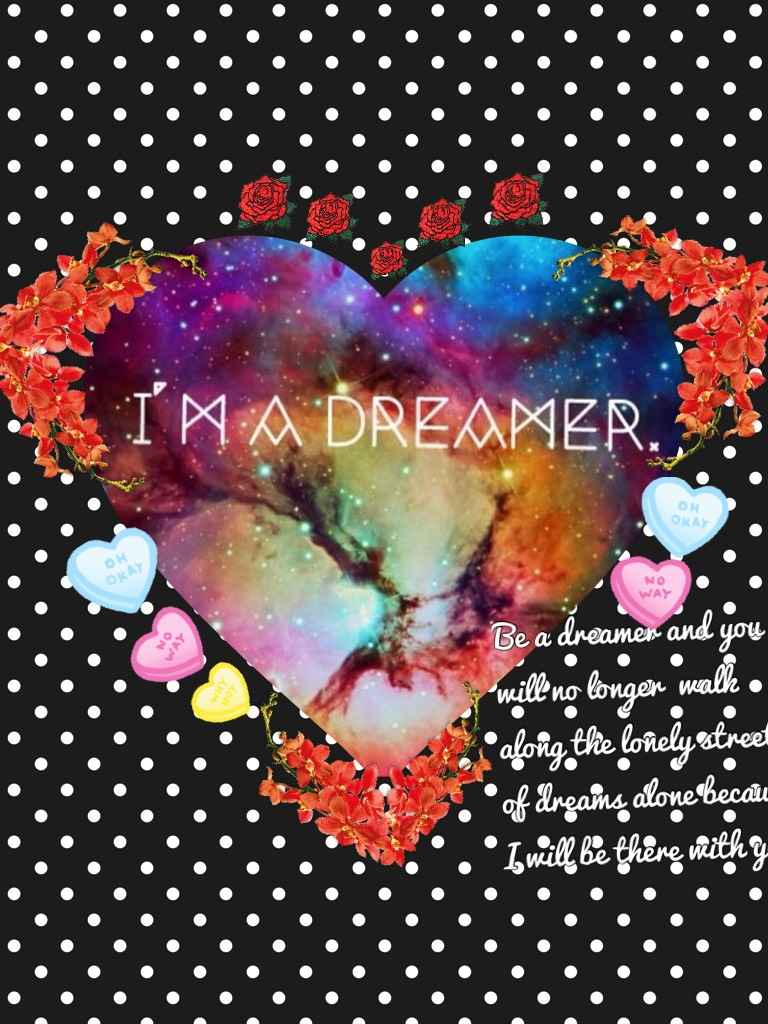 Be a dreamer and you will no longer  walk along the lonely street of dreams alone because I will be there with you.