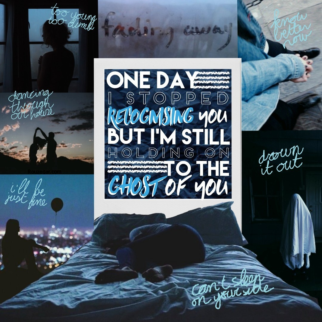 Gonna be a long caption. Quote in the middle is written by me, the other written ones are from Ghost of you by 5SOS. One of my fav songs ever and this whole collage is inspired by it. Give it a listen if you want to. ALSO THANK YOU SO MUCH FOR ALL THE KIN