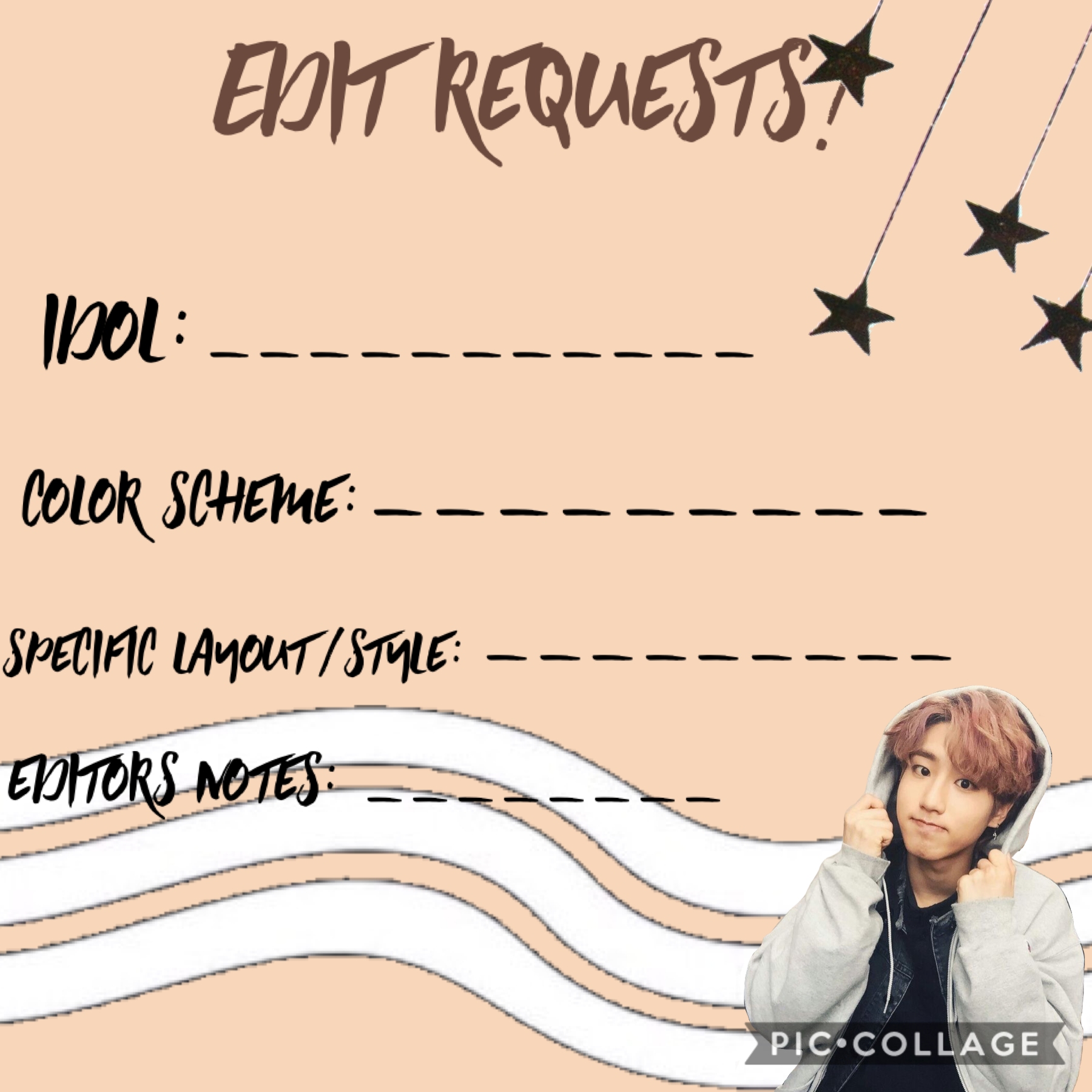 remix for edit requests! i'll edit them prior to posting and they will be releases probably two days after  sending love, -sarang-