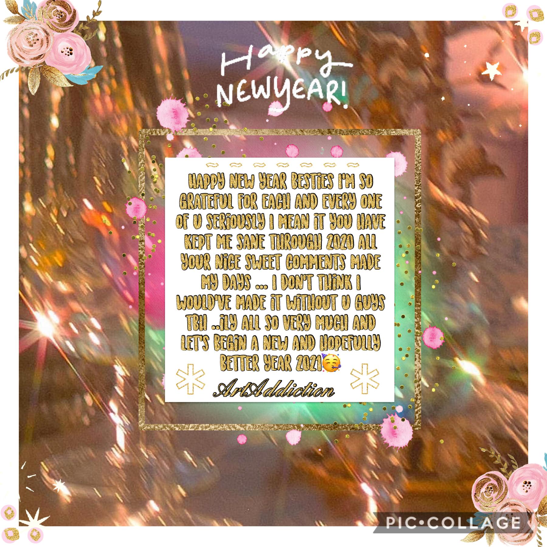 Happy New Years guys I've still got an hour left lol I'm in the uk wbu u guys ? Is it already 2021 if so happy new yearrr💕💖🥳