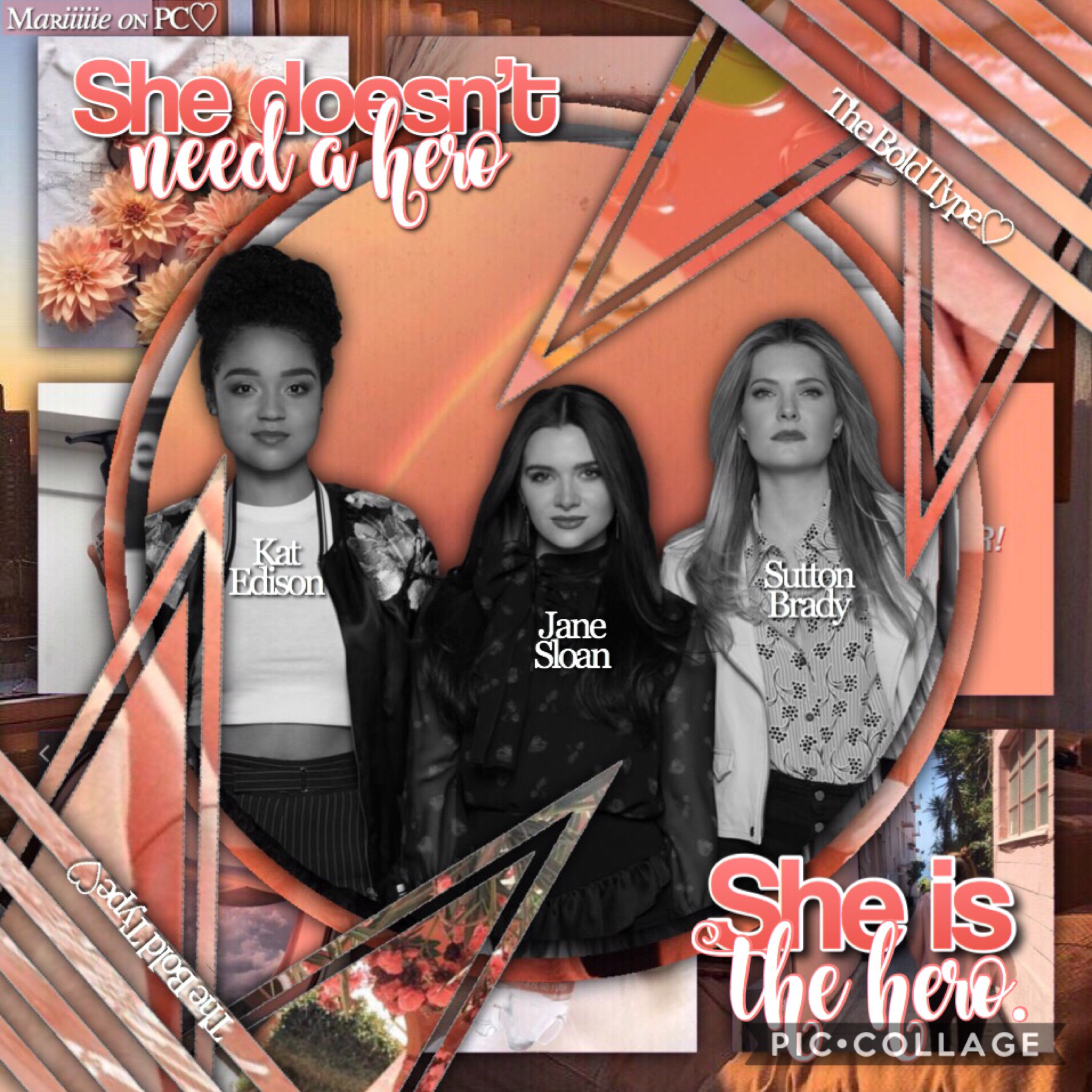 💁🏻‍♀️- T A P -💁🏻‍♀️  Not my best edit I think but still... Hope you will like it!🧡  Who else watch The Bold Type? It's soooooo great!😍  QOTD - Fav ice cream flavour?  AOTD - Cookie dough🍪 or chocolate🍫