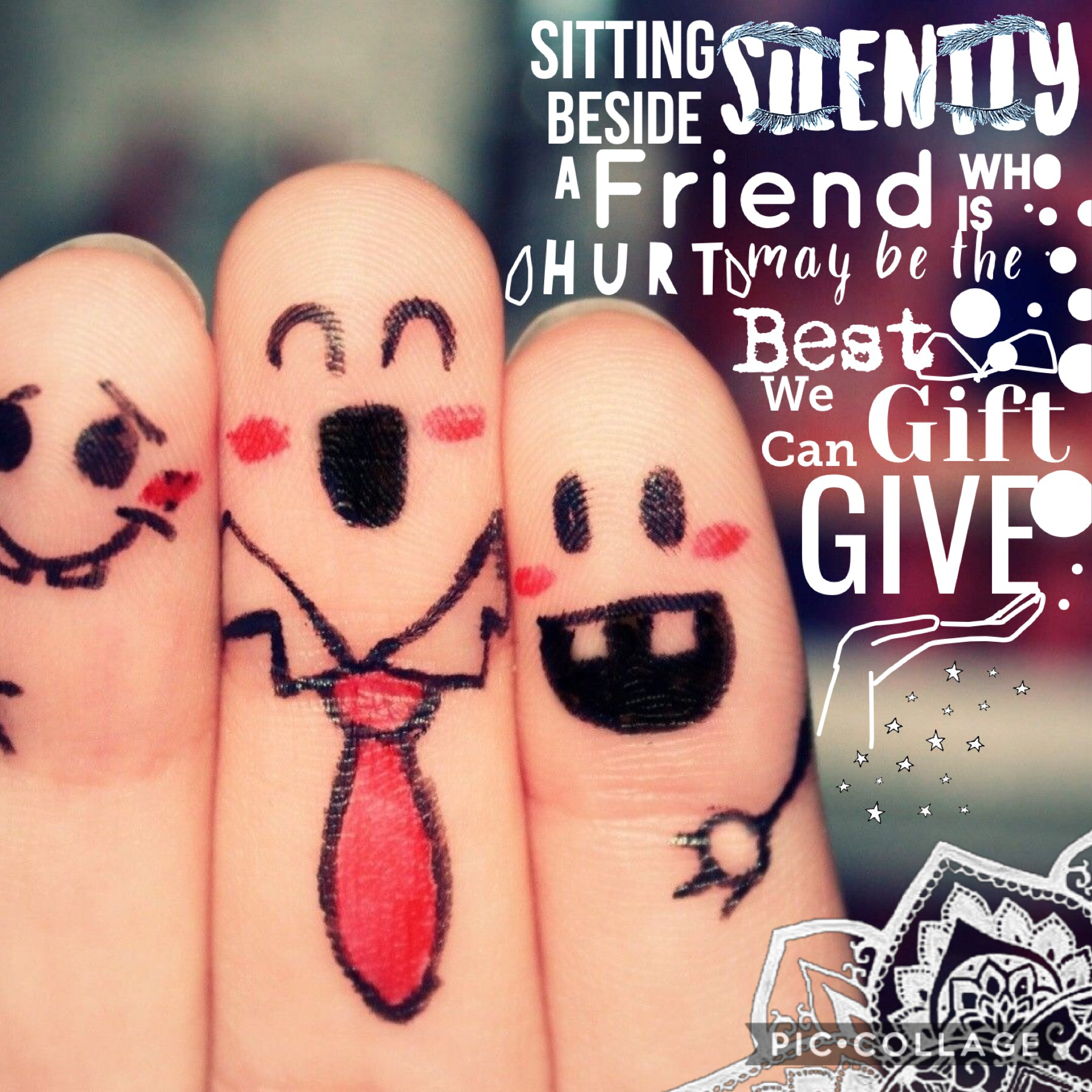 True friends don't betray you. They help you to get success.