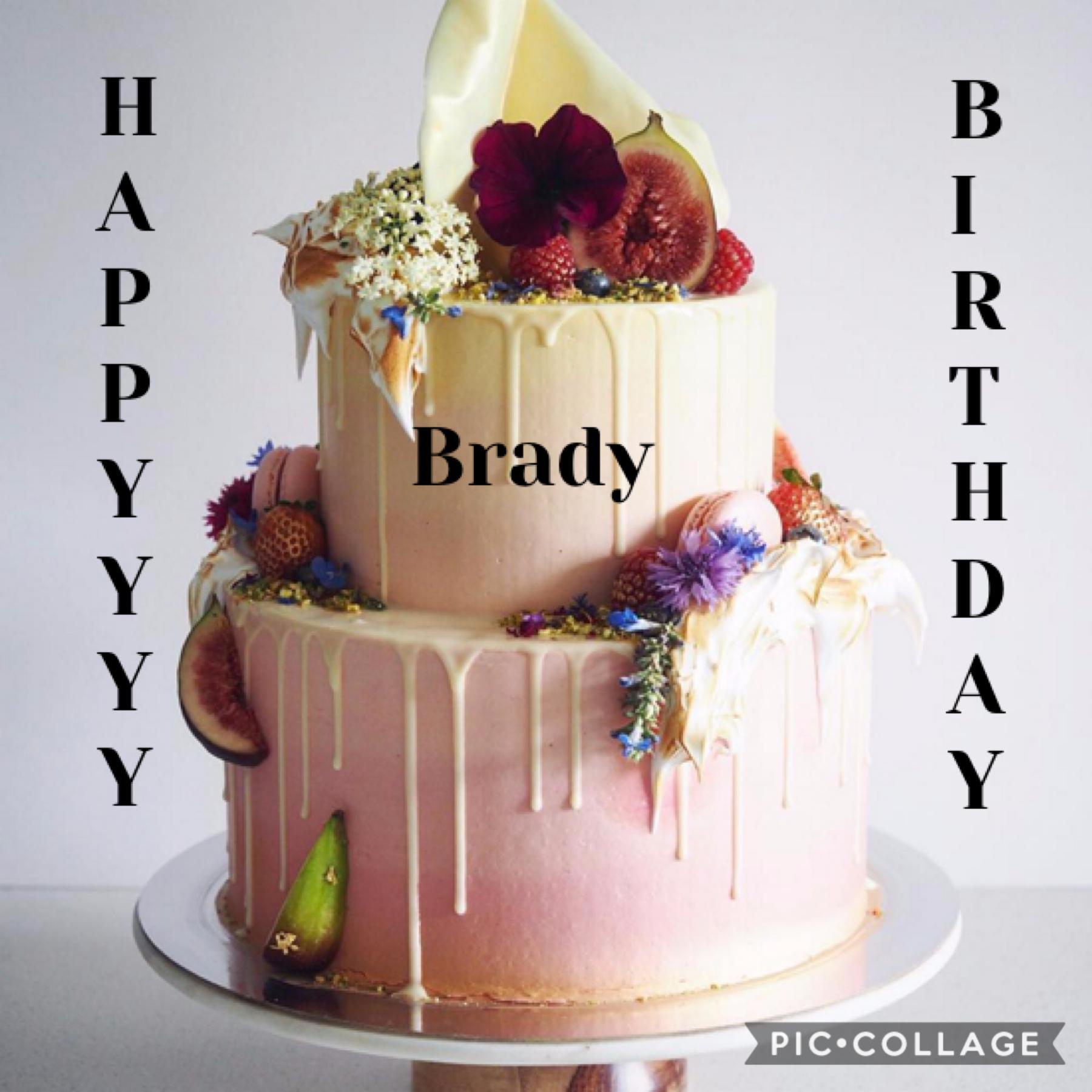 Happy birthday Brady!! Look at all that fruit!