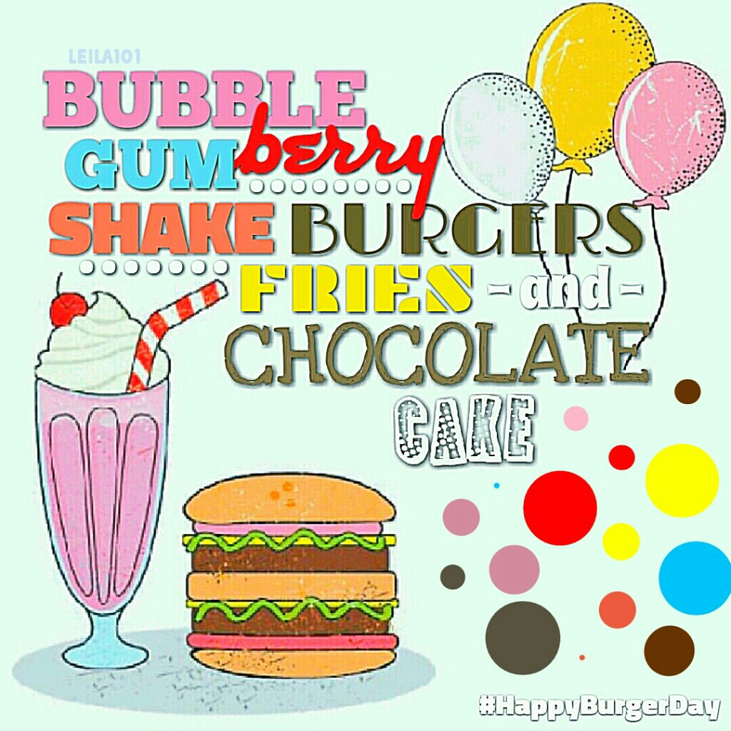 Shout Out To AnimaLover15! My Quote Plz Give Credit! 🍔🍦 💕   Tags: almost Pconly collage stickers love grease stickers burger shake balloons draw on collage national burger day chocolate cake soda pop Leila101 pastel colorful #burgerday #HappyBurgerDay