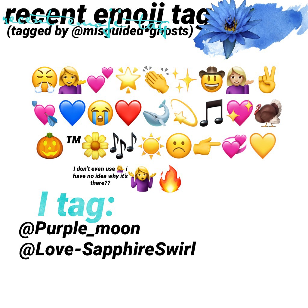 Recent emoji tag or wow Caroline still knows how to use the basic functions of PicCollage tag?