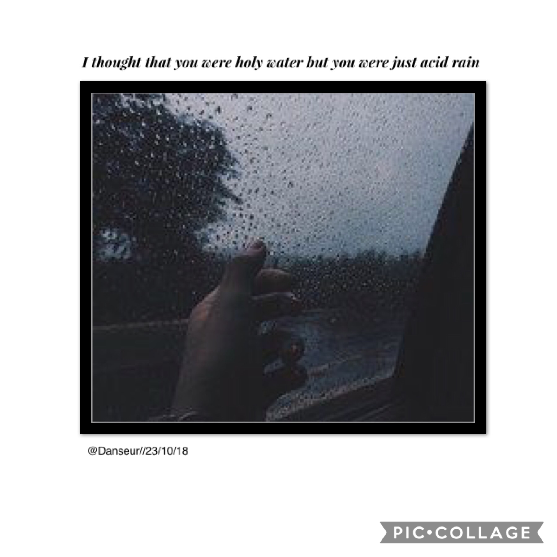 🖤tap🖤 🎶Acid Rain- Thomston My crush asked me out today 💞 New theme! I deleted and re-uploaded my newest collages with a white barrier, gonna start doing that!  Listen to this song please, it's so good  Bye -Danseur ❤️