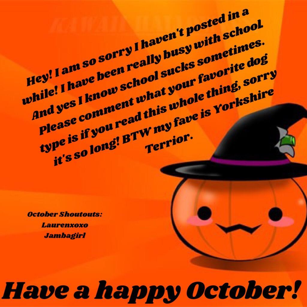 Have a happy October!