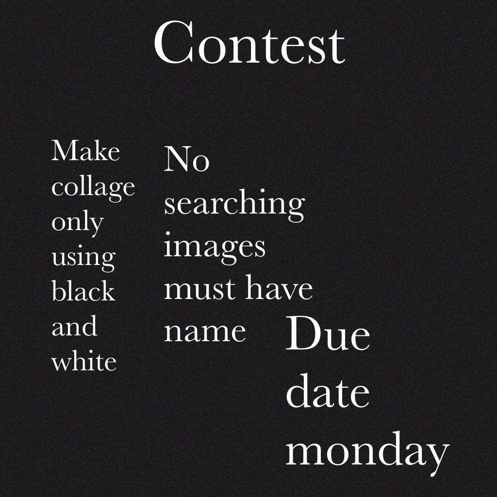 Contest  Good luck