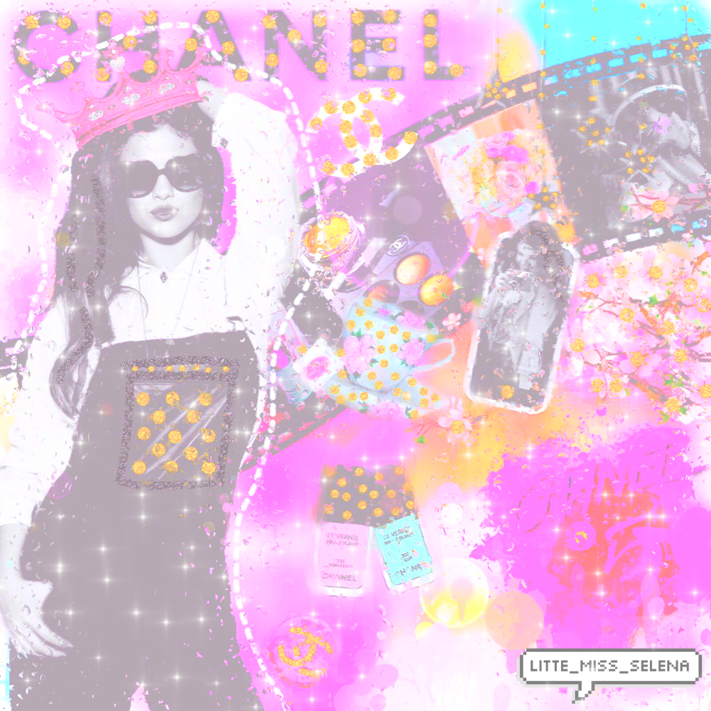 Chanel😊😊😊😊😊😊 I just made Selena Gomez a Chanel model 😂😂😂