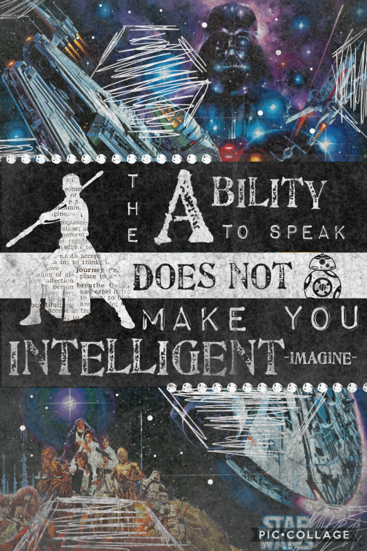 Hi I am not a huge fan of Star Wars (sorry) but I liked this quote How are you all doing ?