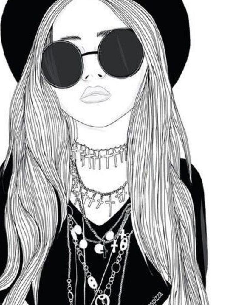 Матрица, рисунки для девочек 11 лет прикольные черно белые