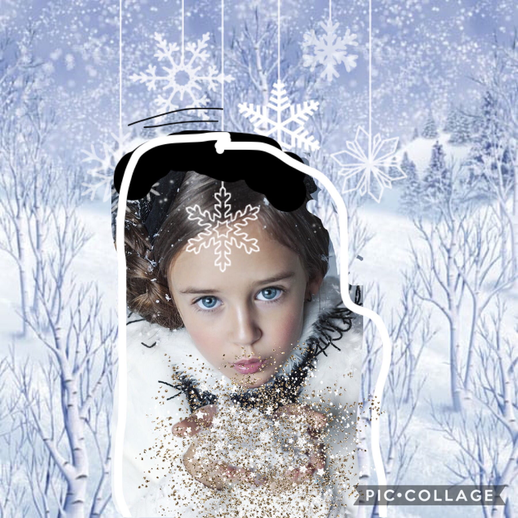 ❄️Tap❄️ I did this for a contest but I thought I should post it to if you go on my remixes it is a better version  Write #Winter if you read this