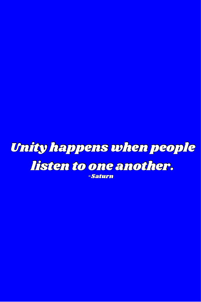 I am working on a little something. In the meantime, go out and listen to someone else. You may completely disagree, but when we at least TRY to understand another way of thinking, that is when progress begins.