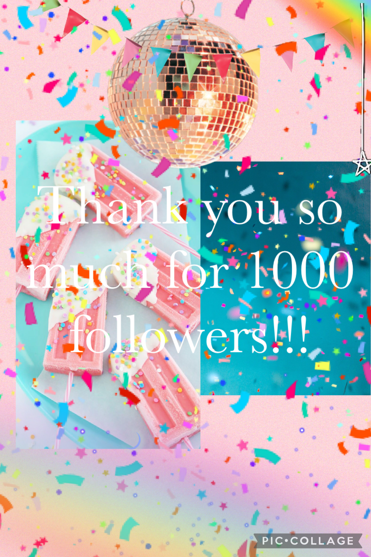 We did it! 1000 followers! I didn't actually think this would happen, but it did! I'm so grateful for all of you and I feel like I'm not giving enough. I'm going to post more, but thanks for 1000 followers! 💕💜💕💜💕💜💕💜