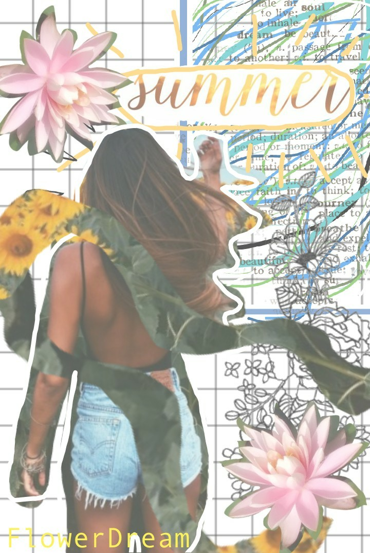 A summer themed collage! How was your day today? I had summer camp and we went to the pool today. I got sunburned.  RIP (rest in pieces)