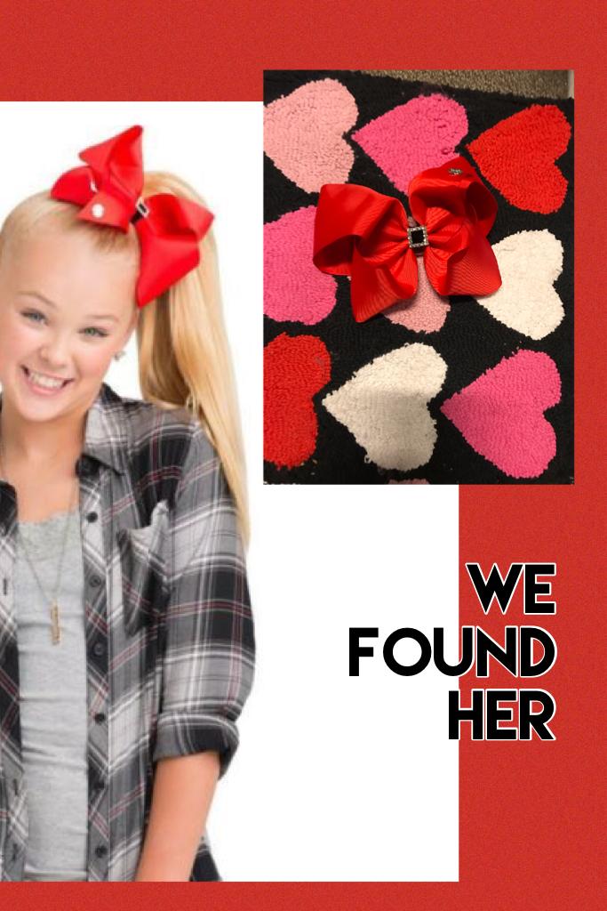 We found her