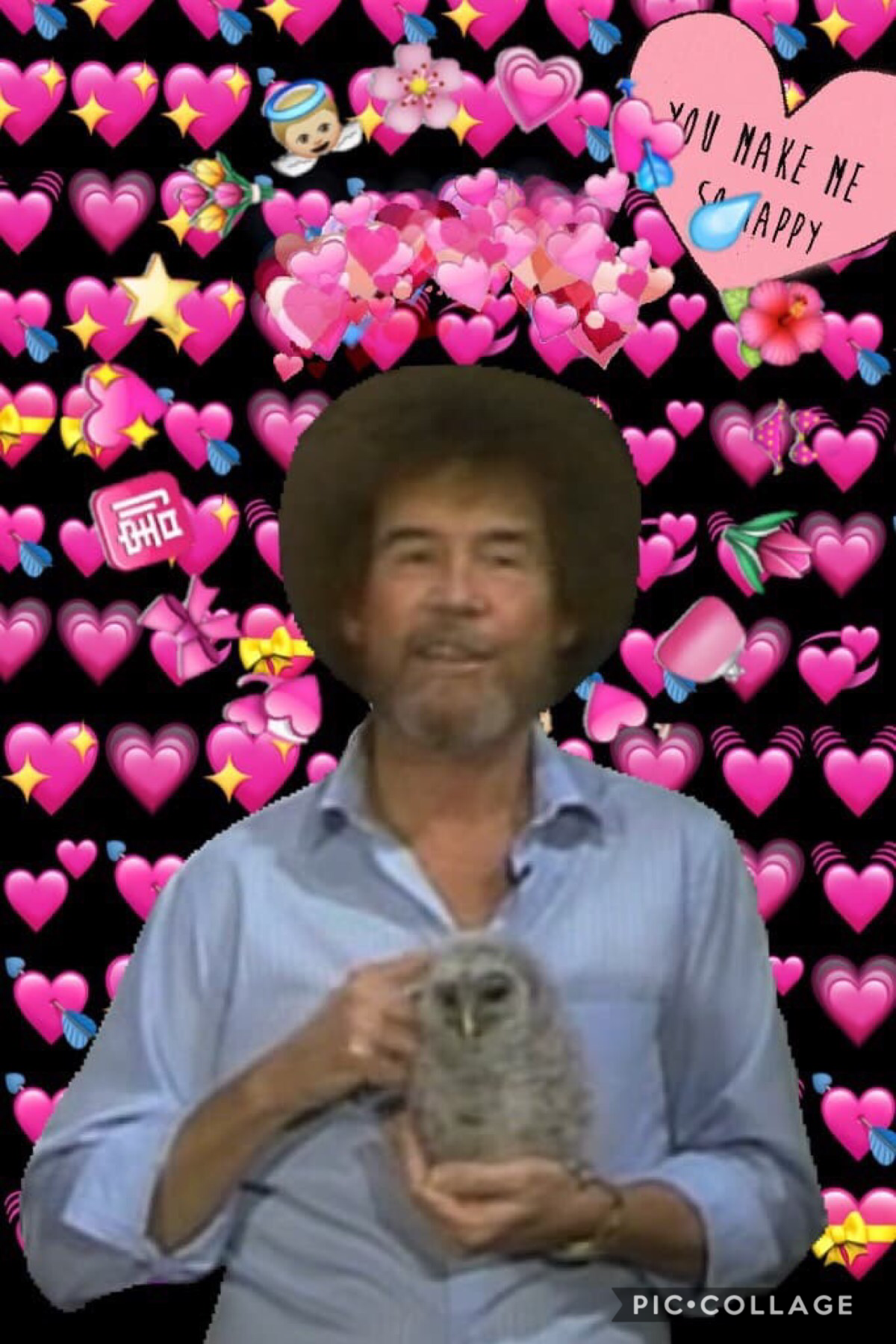 Made by R_Iver🌲 8/13/2018 Remix Bob Ross collages and I'll post them with credit