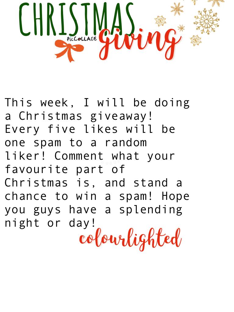 GIVING FOR CHRISTMAS! 💓🎄
