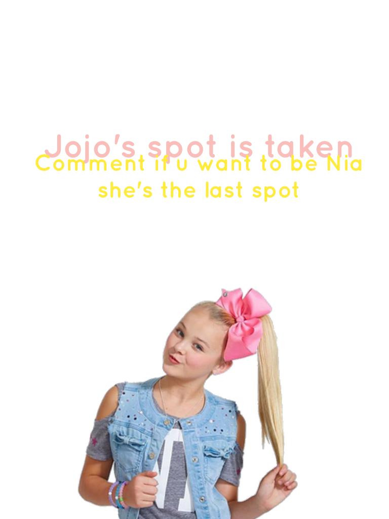 Jojo's spot is taken