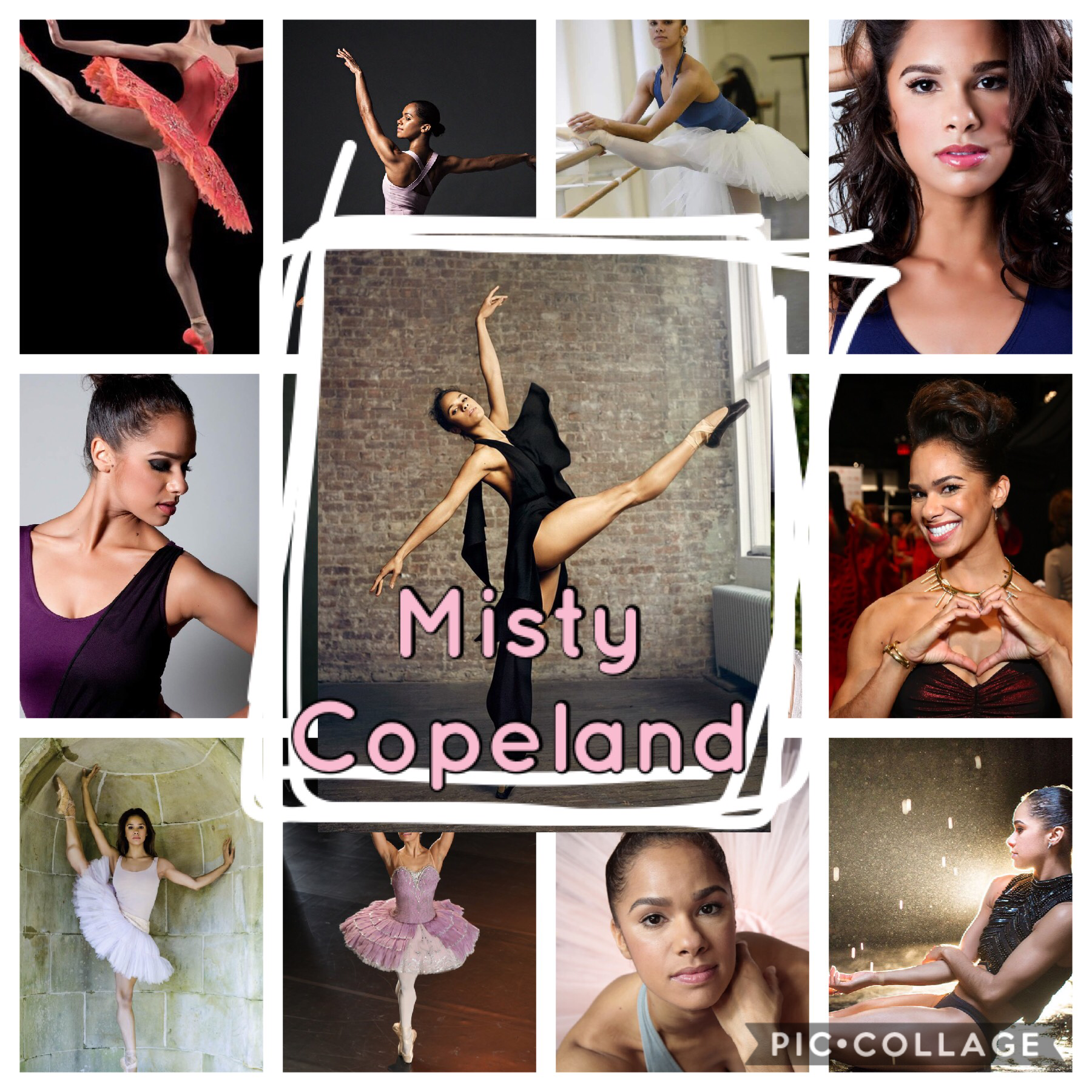 I freaking love Misty Copeland she is so amazing I hope one day I can be almost as good a dancer as her 😁
