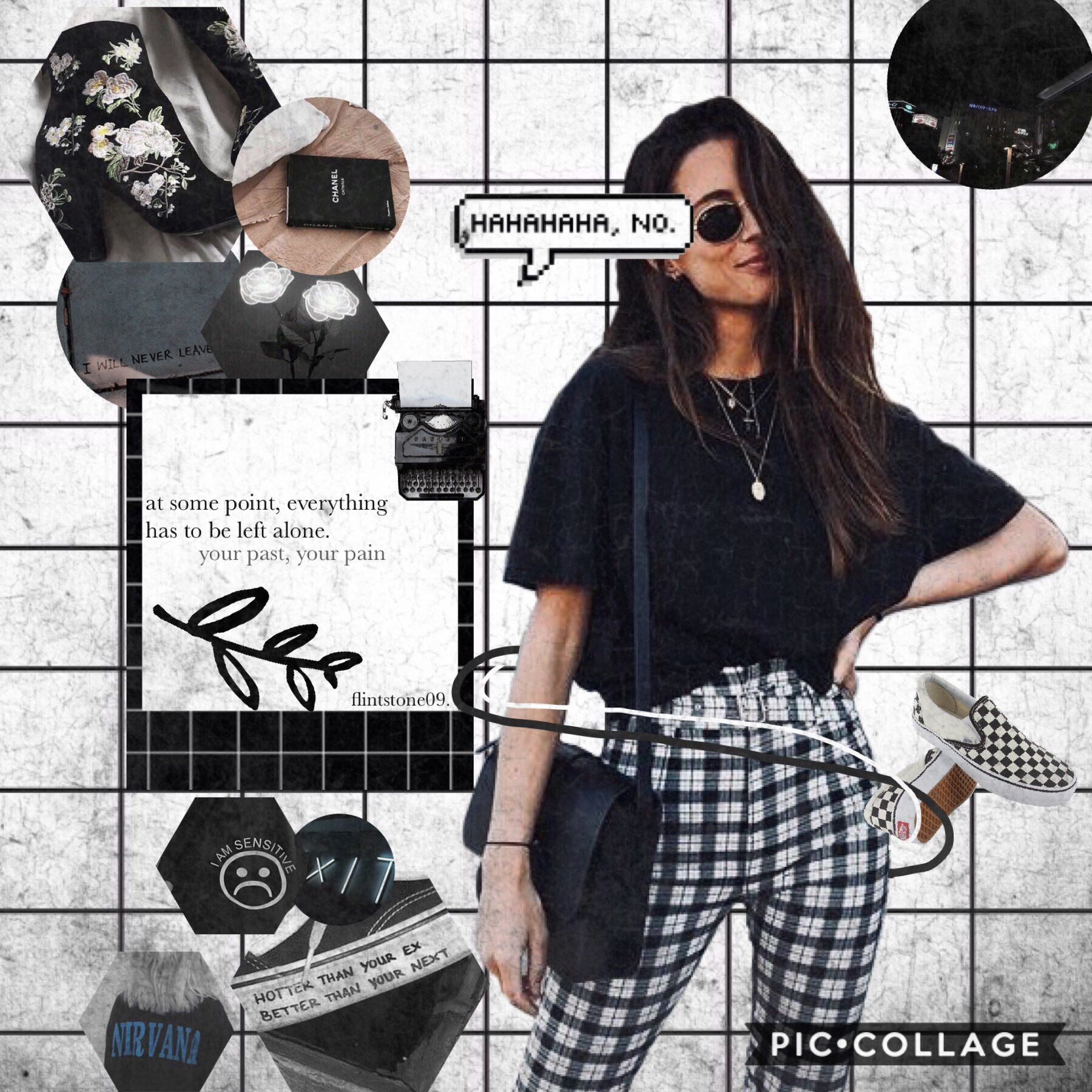 7th post of theme. 🖤TAP🖤  😆I hope you can tell this is BLACK  QOTD: Black or white? AOTD: White💀🐼🐚☁️🗯