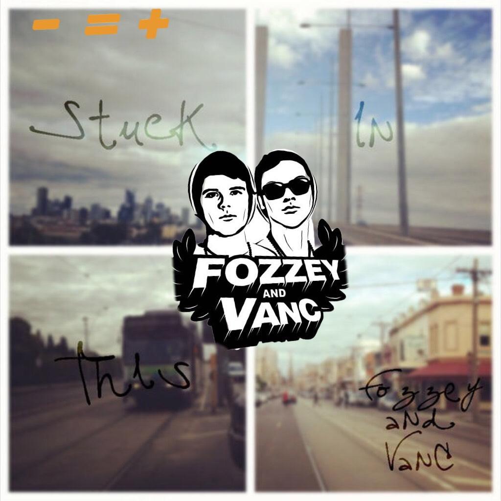 fozzey and vanc 🖤🖤🧡