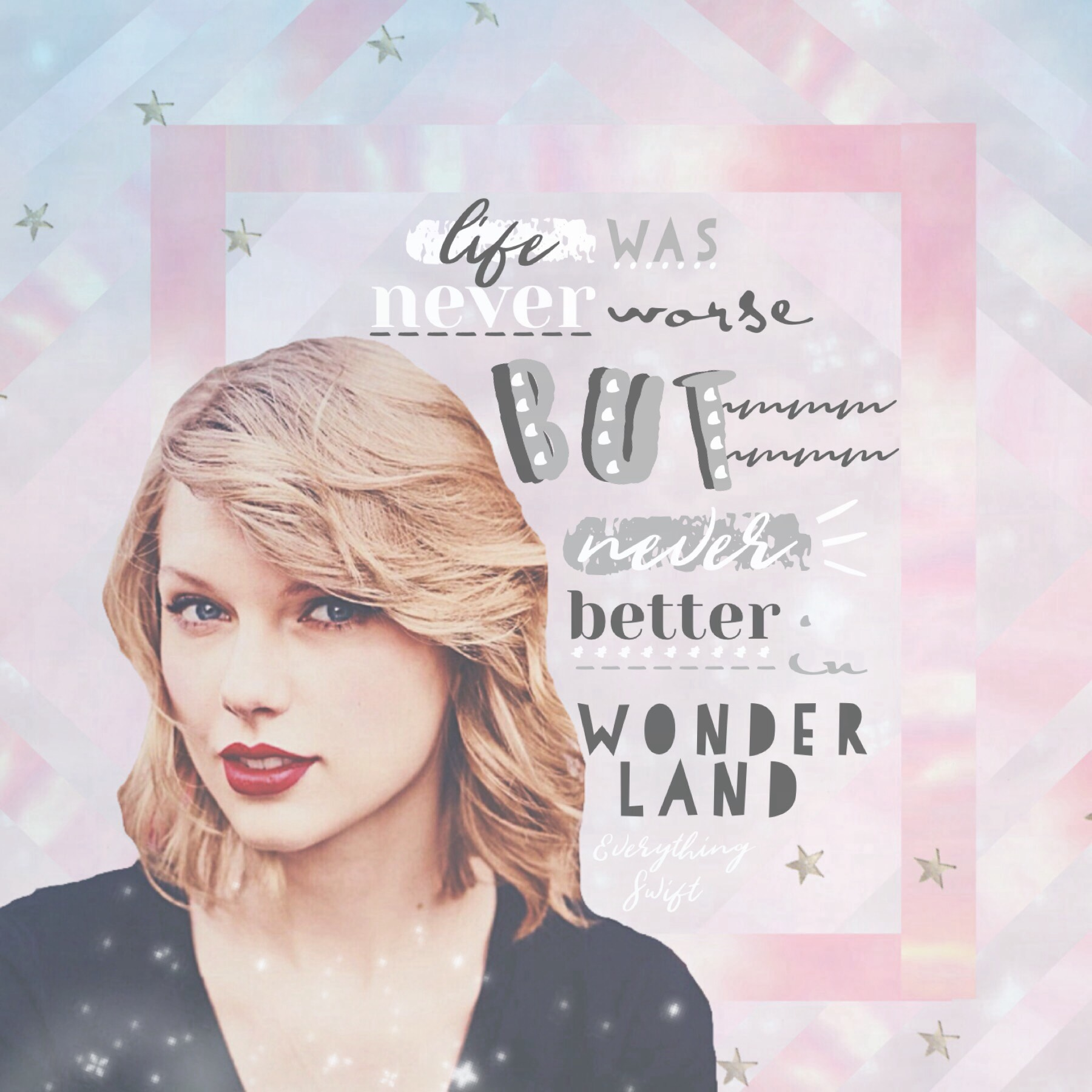 Yay I posted! I'm trying to focus on text more. How did I do? Tap! 💕 QOTD: Fav Taylor Swift bonus track? AOTD: You Are In Love (my fav song ever) but I love  Wonderland and New Romantics too