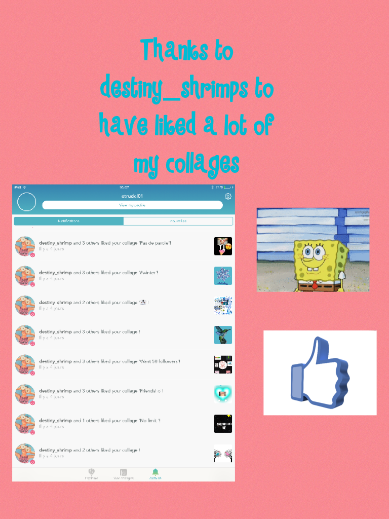 Thanks to destiny_shrimps to have liked a lot of my collages
